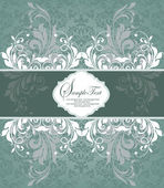 Vintage styled card with floral ornament background — ストックベクタ