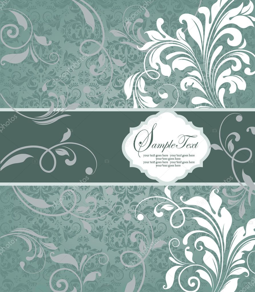 FLORAL BACKGROUND  Vektorgrafik #8347079