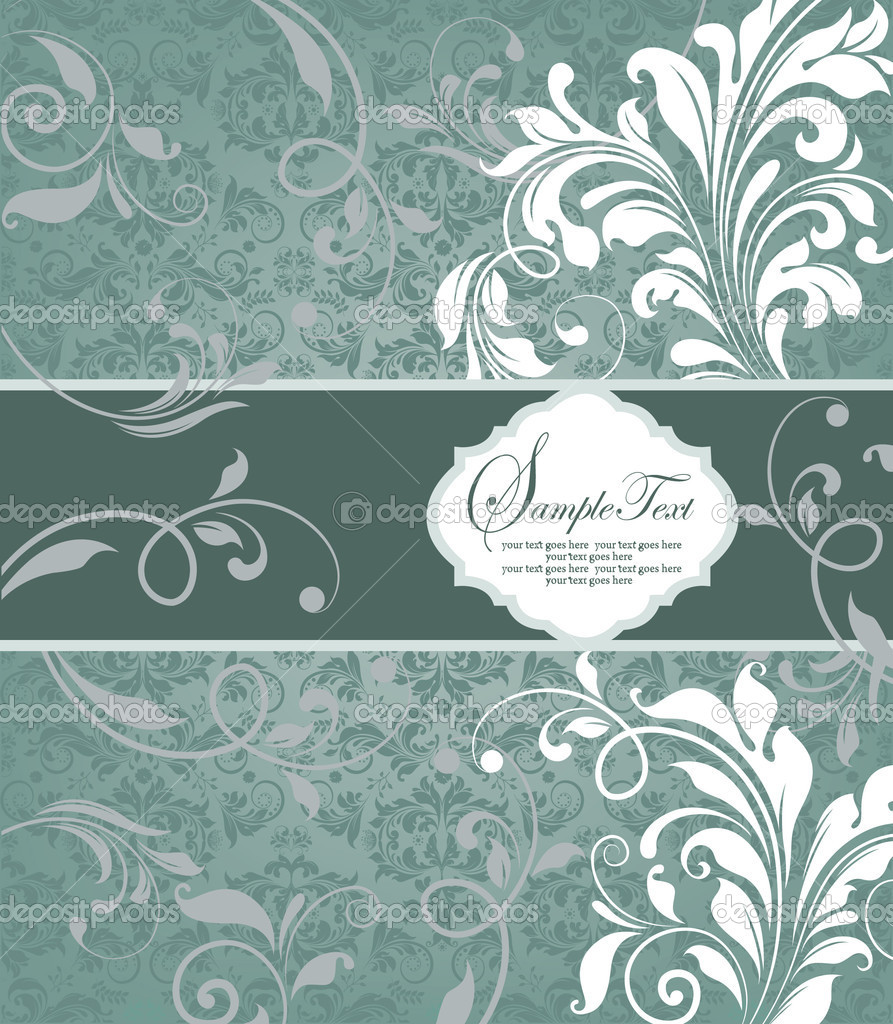 FLORAL BACKGROUND  Imagen vectorial #8347079