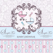 Baby announcement card - Imagen vectorial