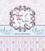 Cartão de anúncio do bebê — Vetorial Stock