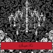 Invitation Card Design With Chandelier — Imagens vectoriais em stock