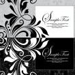 ストックベクタ: Invitation card on floral background