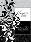 花の背景の招待カード — ストックベクタ