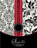 Tarjeta de invitación sobre fondo floral abstracto — Vector de stock