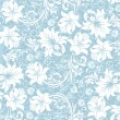 Floral seamless pattern, vector design — Vector de stock #8640230