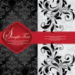 INVITATION CARD ON FLORAL BACKGROUND WITH PLACE FOR TEXT — Grafika wektorowa