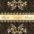 Vetorial Stock : Black and gold background