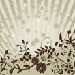 Floral background with lines and circles — Image vectorielle