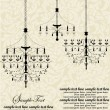 Vector vintage frame with chandelier — Vettoriali Stock