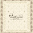 Vector vintage frame with chandelier — Stock vektor