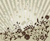 Fondo floral con círculos y líneas — Vector de stock