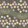 Spring floral background with place for your text — Stok Vektör