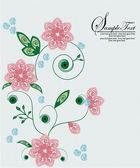 Printemps floral fond avec place pour votre texte — Vecteur