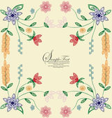 Spring floral background with place for your text — Stock Vector