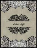 Vector vintage card design — Stock Vector