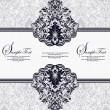 Vector de stock : Vector decorative frame, or invitation cards
