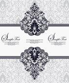 Marco decorativo vector, o tarjetas de invitación — Vector de stock