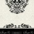 Vector decorative frame, or invitation cards — Vector de stock