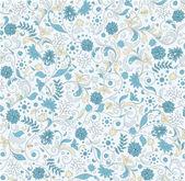 Patrón floral transparente, diseño vectorial — Vector de stock