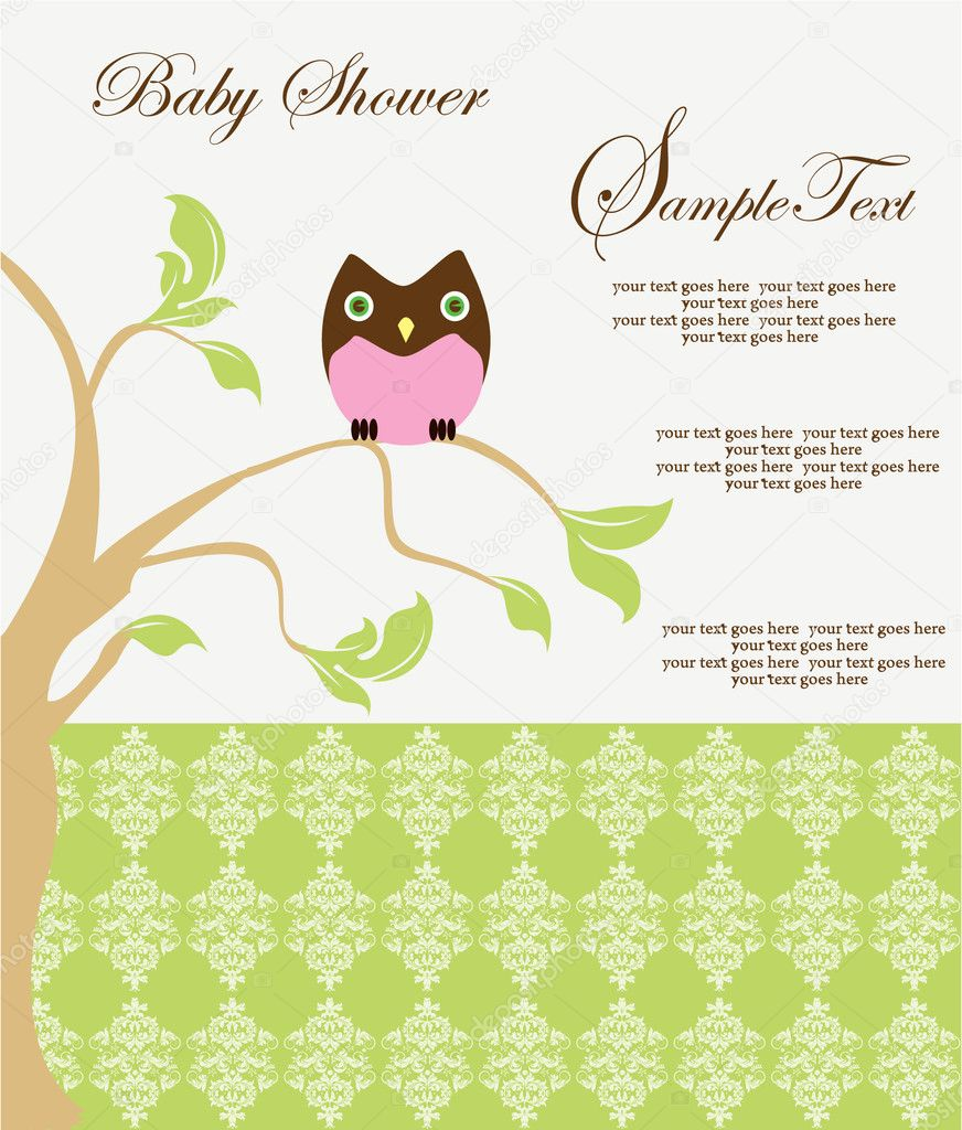 Baby Shower Announcement — Stock Vector #9637871