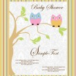 Stock Vector: Baby announcement card