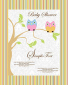 Baby announcement card — Vettoriale Stock