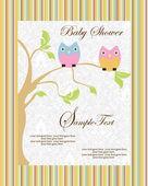 赤ちゃんのお知らせカード — ストックベクタ