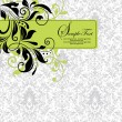 Damask invitation card — Stockvektor