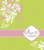 Damask invitation card — Vecteur
