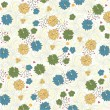 Abstract floral background - Image vectorielle