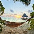 Hammock and sunset — Stock Photo #10094269