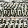 Rows of jizo statues — Stock Photo #8879304