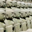 Rows of jizo statues — Stock Photo #8879305