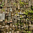 Rows of jizo statues — Stock Photo