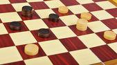El juego de damas — Foto de Stock