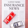 Newspaper INSURANCE NEWS and auto — Stock Photo #10074685