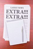 The newspaper EXTRA! EXTRA! — Stock Photo