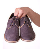 Pair shoes for men — Stock Photo