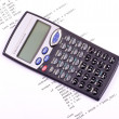 Part of the computer program and calculator — Stock Photo