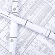 Stock Photo: Blueprint crosswise