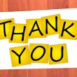 Royalty-Free Stock Photo: Word THANK YOU on stickers