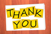 Word THANK YOU on stickers — Stock Photo
