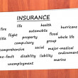 Various types of insurance — Stock Photo #9112998