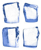 Four pieces of ice — Stock Photo