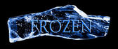 Word FROZEN frozen in the ice — Stock Photo