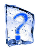 Sign ? frozen in the ice — Stock Photo