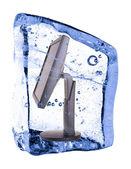 表示、氷で凍結 — ストック写真
