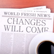 Stock Photo: Newspaper CHANGES WILL COME