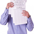 Mreading newspaper — Stock Photo #9448346
